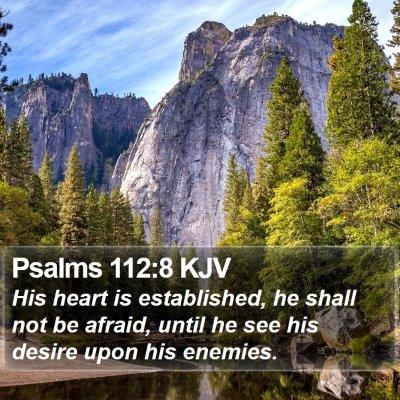 Psalms 112:8 KJV Bible Verse Image