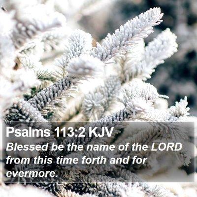 Psalms 113:2 KJV Bible Verse Image