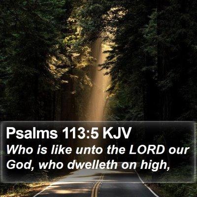 Psalms 113:5 KJV Bible Verse Image