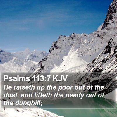 Psalms 113:7 KJV Bible Verse Image
