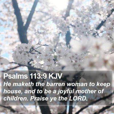 Psalms 113:9 KJV Bible Verse Image