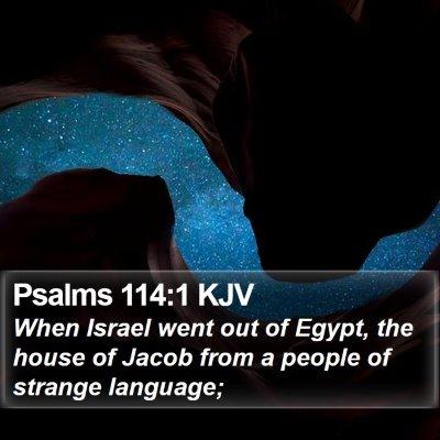 Psalms 114:1 KJV Bible Verse Image
