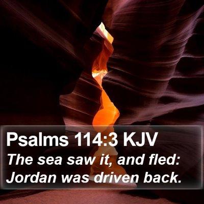 Psalms 114:3 KJV Bible Verse Image