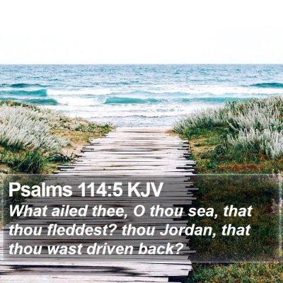 Psalms 114:5 KJV Bible Verse Image