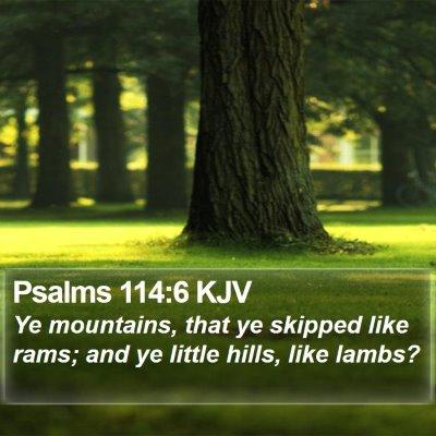 Psalms 114:6 KJV Bible Verse Image