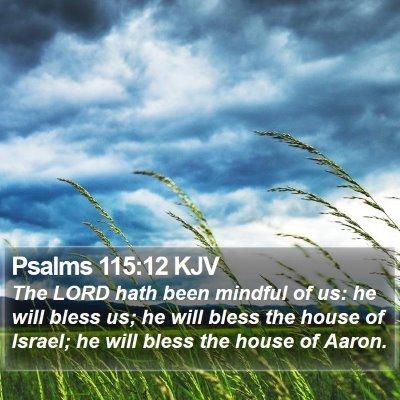 Psalms 115:12 KJV Bible Verse Image