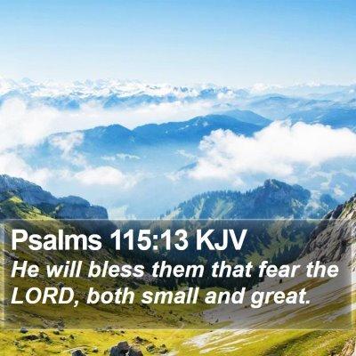 Psalms 115:13 KJV Bible Verse Image