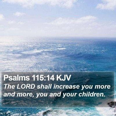 Psalms 115:14 KJV Bible Verse Image