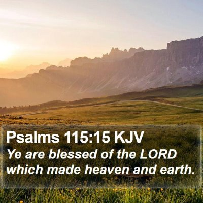 Psalms 115:15 KJV Bible Verse Image