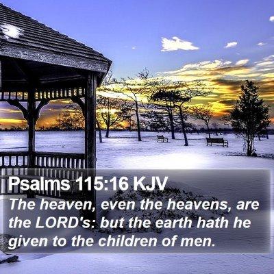 Psalms 115:16 KJV Bible Verse Image