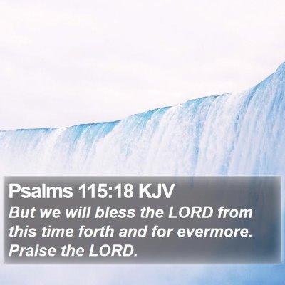 Psalms 115:18 KJV Bible Verse Image