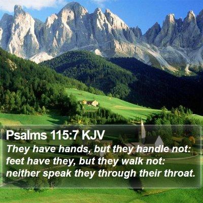 Psalms 115:7 KJV Bible Verse Image