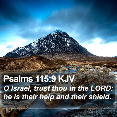 Psalms 115:9 KJV Bible Verse Image