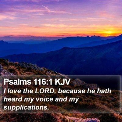 Psalms 116:1 KJV Bible Verse Image