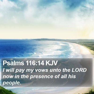 Psalms 116:14 KJV Bible Verse Image