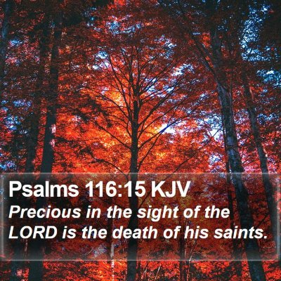 Psalms 116:15 KJV Bible Verse Image