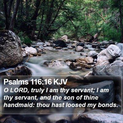 Psalms 116:16 KJV Bible Verse Image