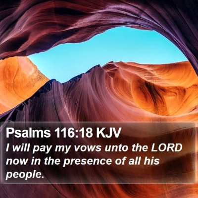 Psalms 116:18 KJV Bible Verse Image