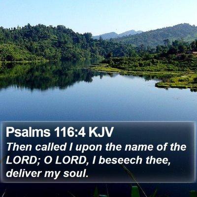 Psalms 116:4 KJV Bible Verse Image