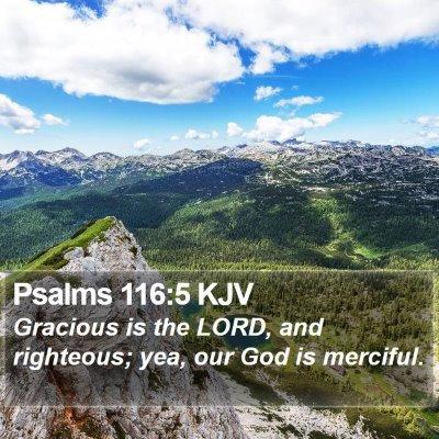 Psalms 116:5 KJV Bible Verse Image