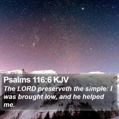 Psalms 116:6 KJV Bible Verse Image