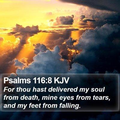 Psalms 116:8 KJV Bible Verse Image