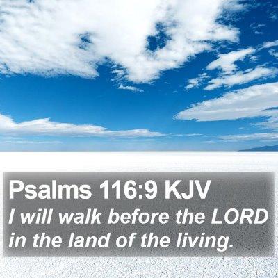 Psalms 116:9 KJV Bible Verse Image