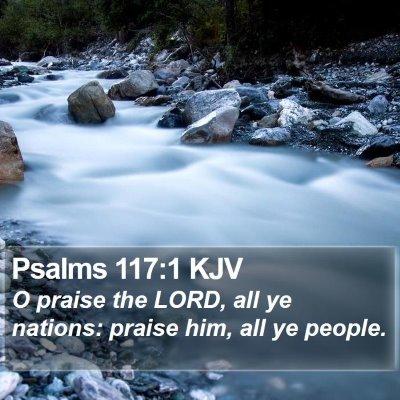 Psalms 117:1 KJV Bible Verse Image