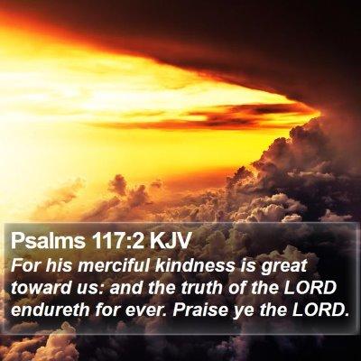 Psalms 117:2 KJV Bible Verse Image