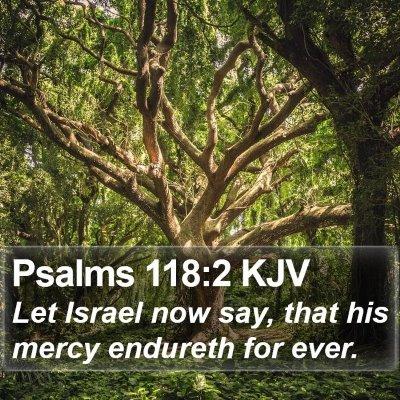 Psalms 118:2 KJV Bible Verse Image