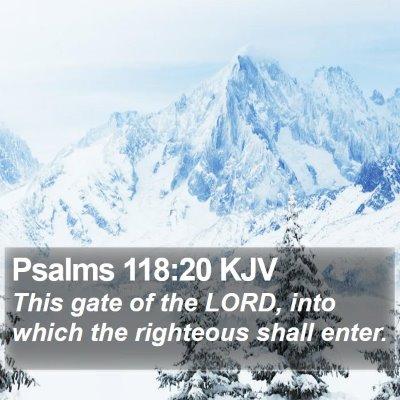 Psalms 118:20 KJV Bible Verse Image