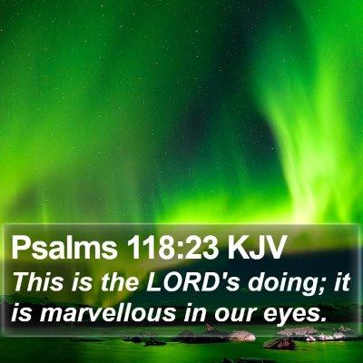 Psalms 118:23 KJV Bible Verse Image