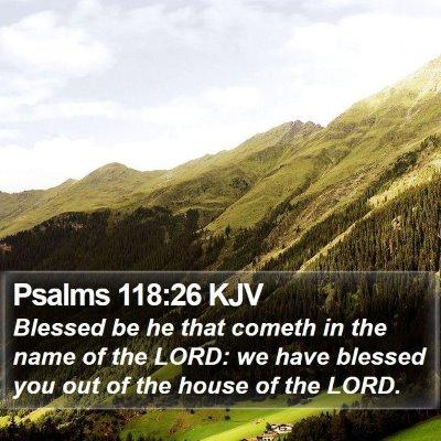 Psalms 118:26 KJV Bible Verse Image