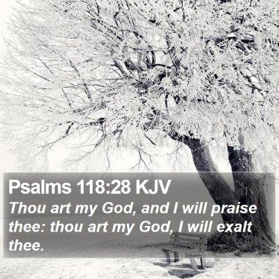 Psalms 118:28 KJV Bible Verse Image