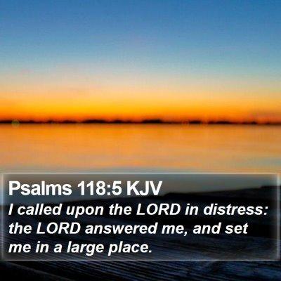 Psalms 118:5 KJV Bible Verse Image