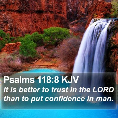 Psalms 118:8 KJV Bible Verse Image
