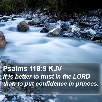 Psalms 118:9 KJV Bible Verse Image