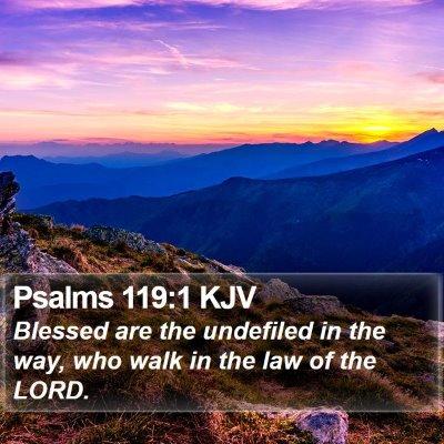 Psalms 119:1 KJV Bible Verse Image