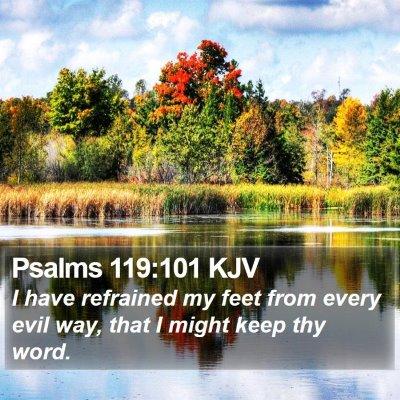 Psalms 119:101 KJV Bible Verse Image