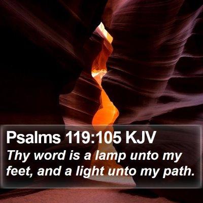 Psalms 119:105 KJV Bible Verse Image