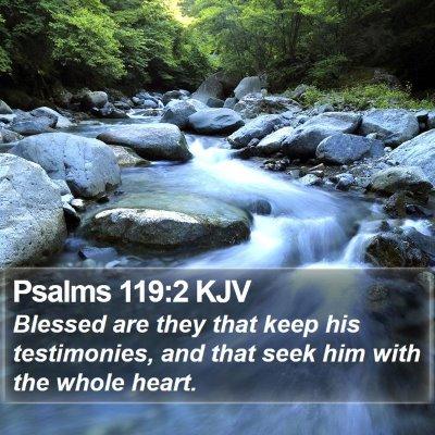 Psalms 119:2 KJV Bible Verse Image