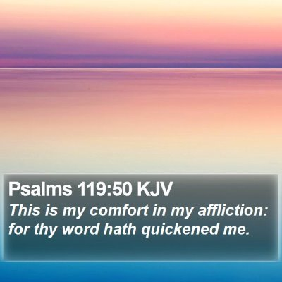 Psalms 119:50 KJV Bible Verse Image