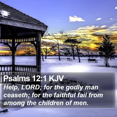 Psalms 12:1 KJV Bible Verse Image