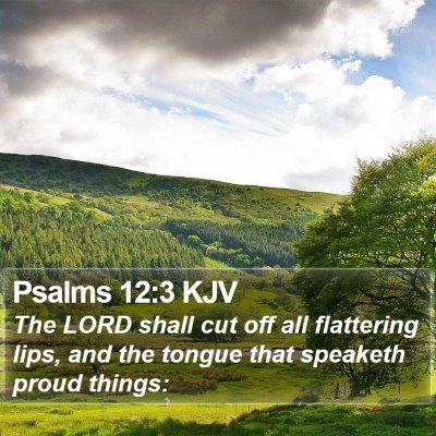 Psalms 12:3 KJV Bible Verse Image