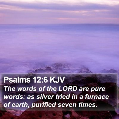 Psalms 12:6 KJV Bible Verse Image