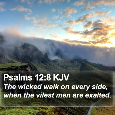 Psalms 12:8 KJV Bible Verse Image