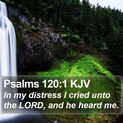 Psalms 120:1 KJV Bible Verse Image