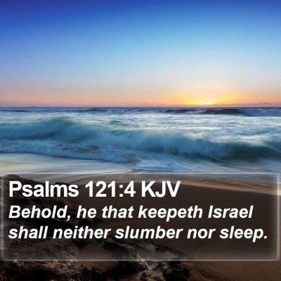 Psalms 121:4 KJV Bible Verse Image