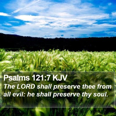 Psalms 121:7 KJV Bible Verse Image