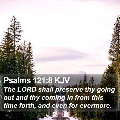 Psalms 121:8 KJV Bible Verse Image